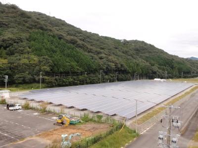 南伊勢町太陽光発電所施工写真
