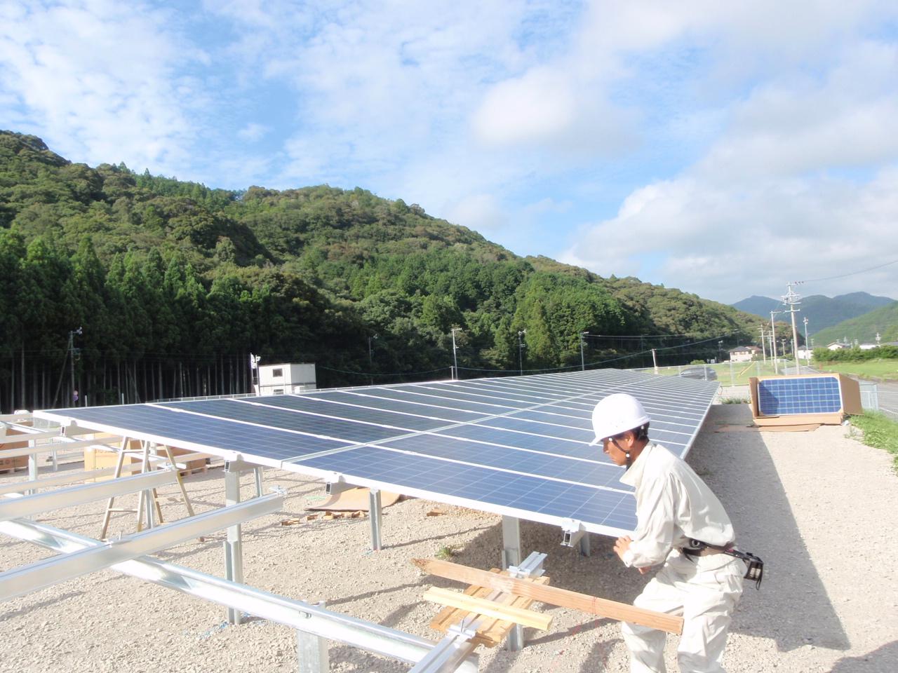 太陽光モジュール取り付け状況